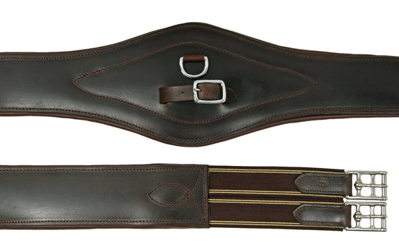 LONG GEL PADDED BELLY GIRTH - HAVANA