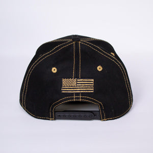 Black/Gold CannAmerica Hat