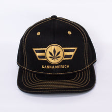 Load image into Gallery viewer, Black CannAmerica baseball cap Hat