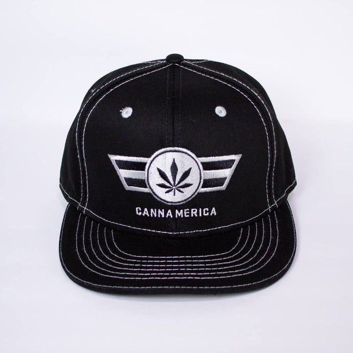 black cannamerica baseball cap hat