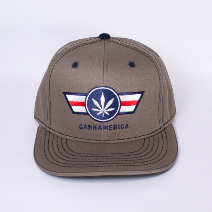 tan cannamerica baseball cap hat