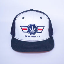 Load image into Gallery viewer, red white and blue cannamerica baseball cap hat