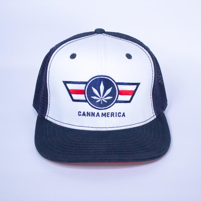 red white and blue cannamerica baseball cap hat