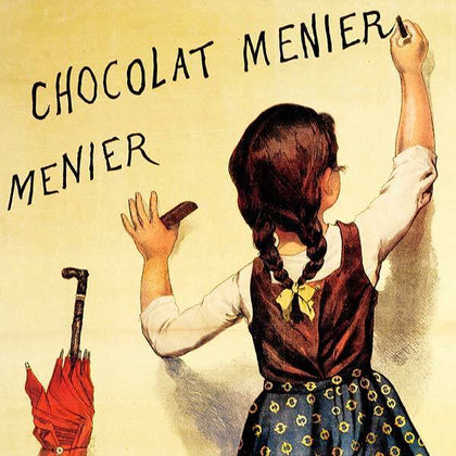 Metal Poster Print from the Vintage Chic Collection on C'est La Vie Prints. Vintage Chocolate poster printed on HD aluminum