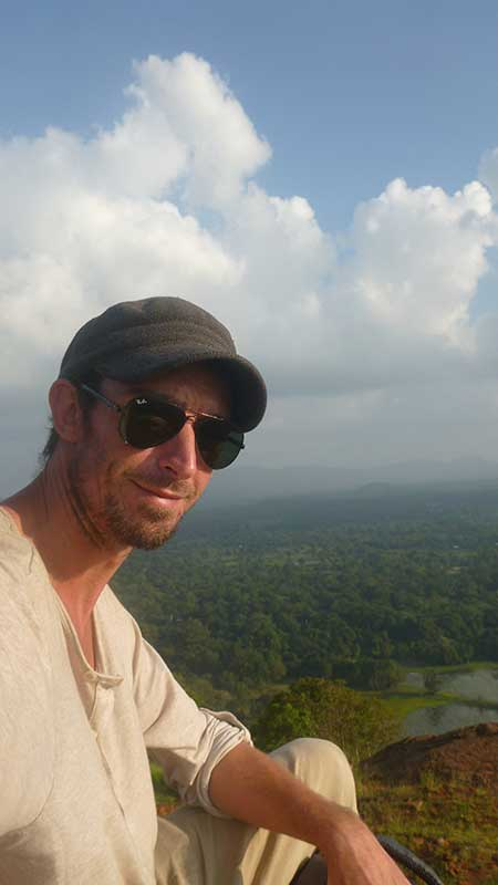 Richard on top of mount Sigiriya in Sri Lanka