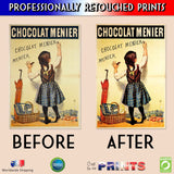 Metal Poster Print of Chocolat Menier from C'est La Vie Prints