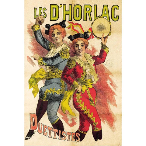 Metal Poster Print of Duettistes Dancers Vintage Poster from C'est La Vie Prints