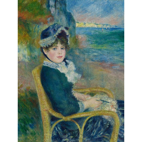 Auguste Renoir - By the Seashore Print on Metal