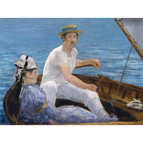Edouard Manet - Boating Print on Metal