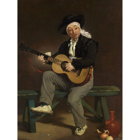 Metal Poster Print of Edouard Manet - The Spanish Singer from C'est La Vie Prints