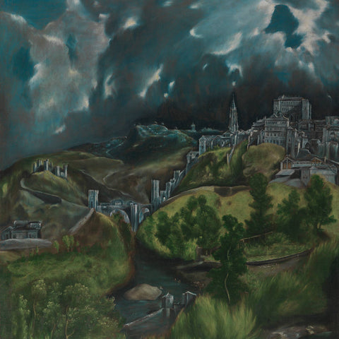 Metal Poster Print of El Greco - View of Toledo from C'est La Vie Prints