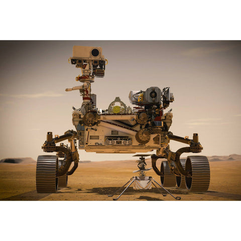 Metal Poster Print of Mars Rover Illustrated Poster from C'est La Vie Prints