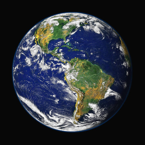 Metal Poster Print of Blue Marble - Planet Earth from C'est La Vie Prints