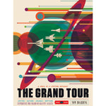 Metal Poster Print of Voyager Grand Tour Poster from C'est La Vie Prints