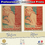 Metal Poster Print of L'Art Independant Vintage Poster from C'est La Vie Prints