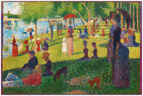 Metal Print - Georges Seurat -  Study for A Sunday