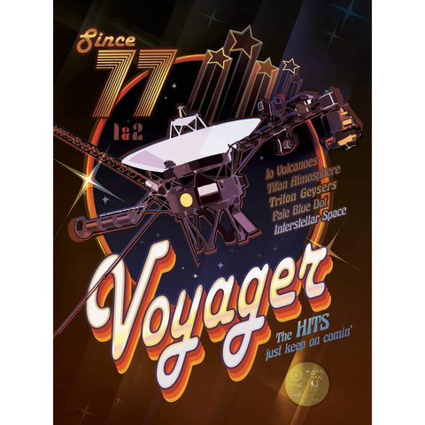Voyager Disco Poster Print on Metal