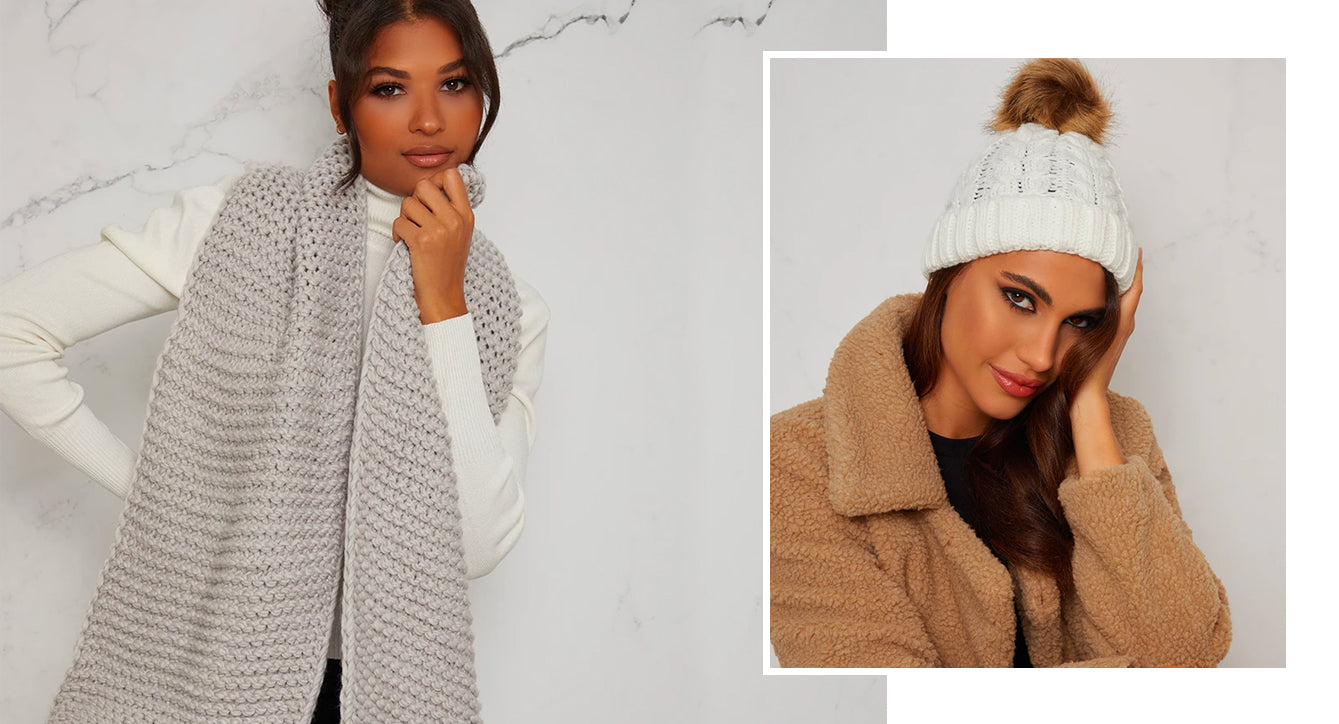 Neutral Hat & Scarf
