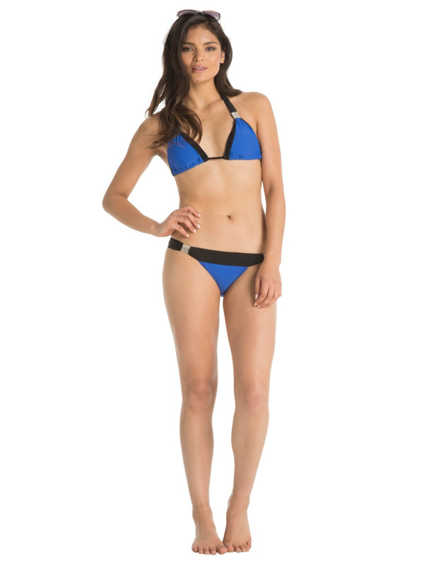 Colour Block Bikini Bottoms in Blue