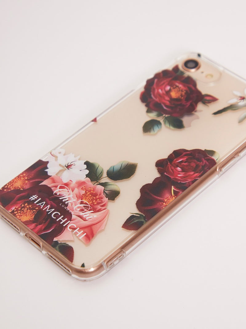 Floral Print Iphone Xs Case in Multi