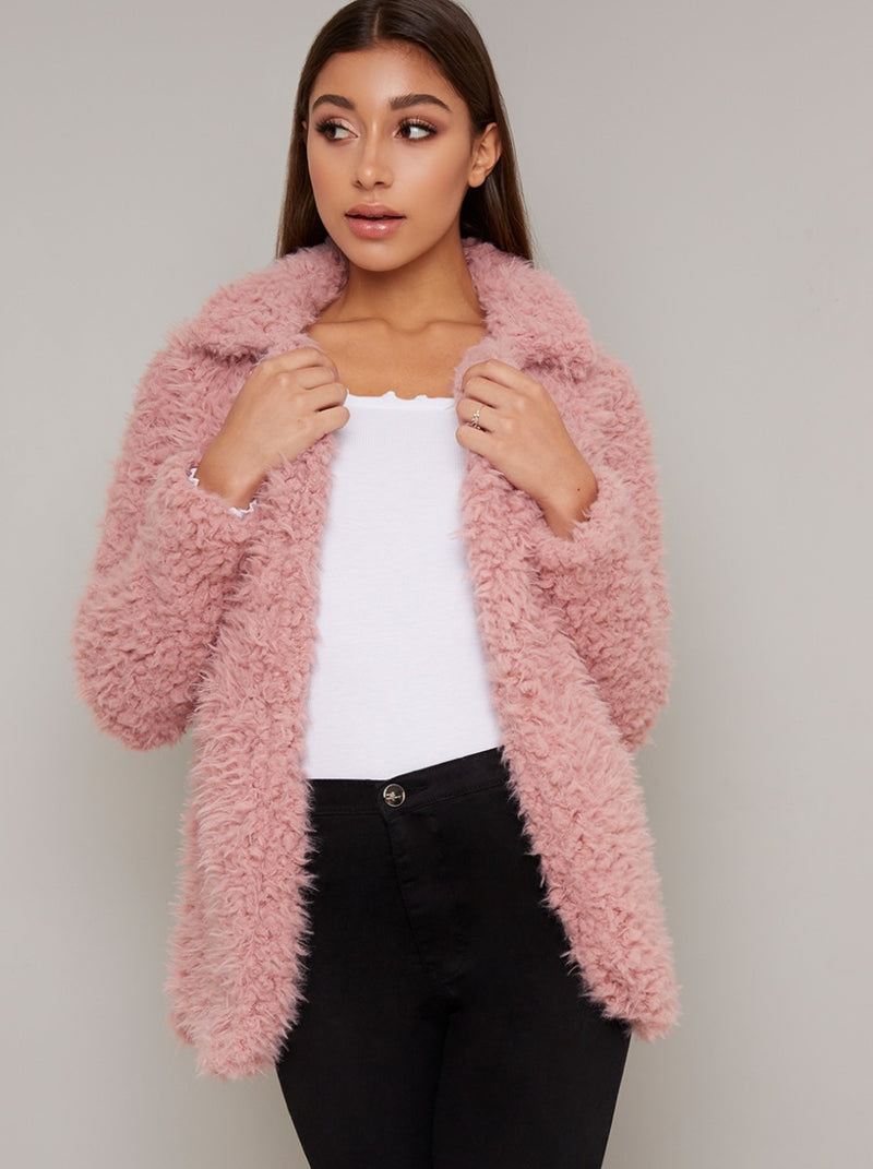 Teddy Jacket in Pink
