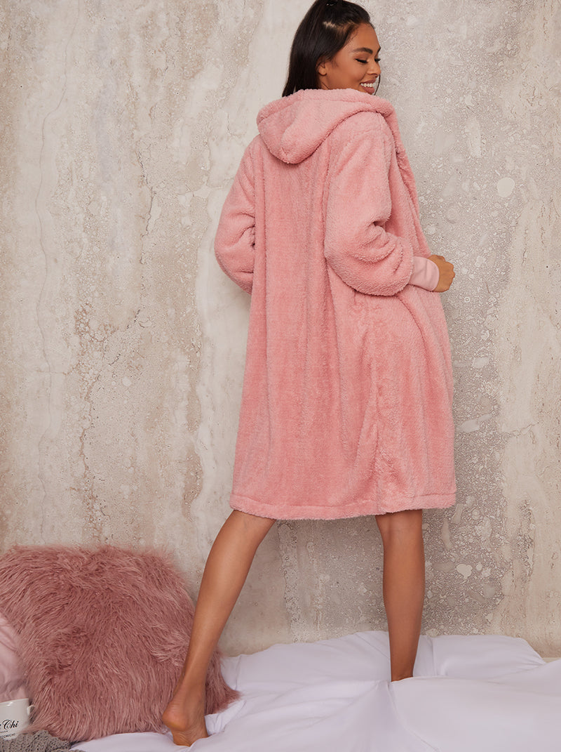 Fluffy Teddy 3 Piece Loung Shorts Set in Pink