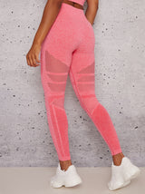 High Rise Eyelet Breathable Sport Leggings in Pink