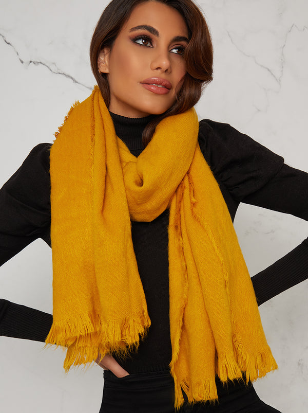 Woolen Winter Scarf in Yellow