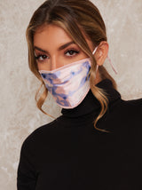 Watercolour Facemask with Breathable Fabric in Pink