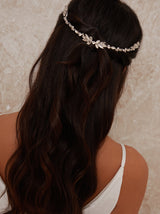 Gemstone Embellished Hair Piece in Silver