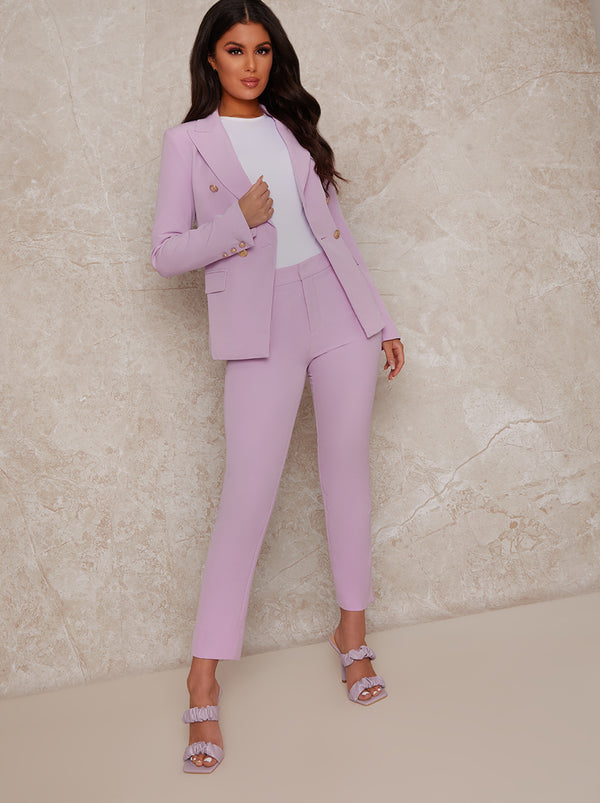 Oversized Tailored Blazer in Purple