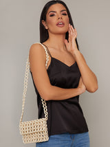 Micro Cross Body Shoulder Bag In Neutral