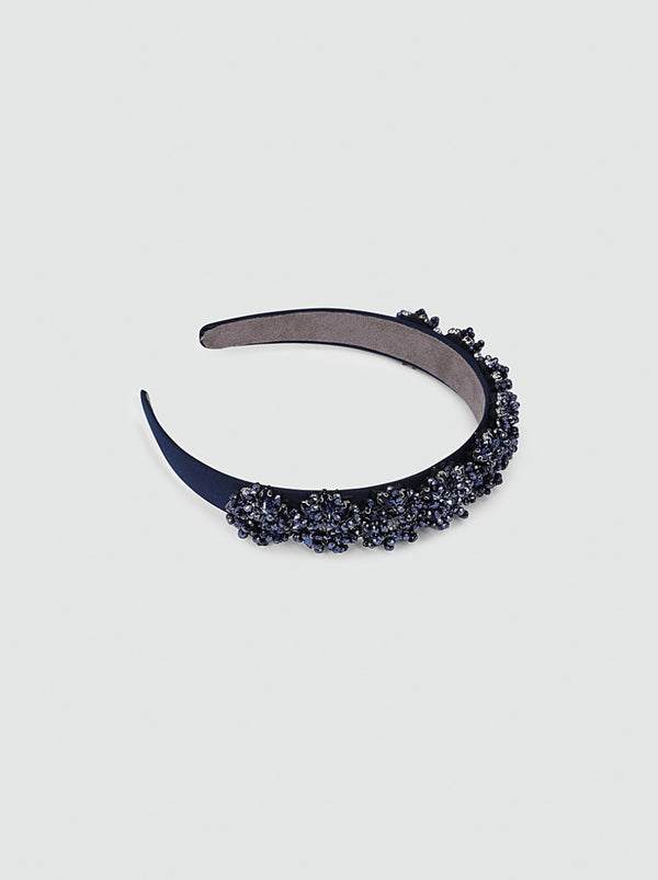 Beaded Headband in Blue