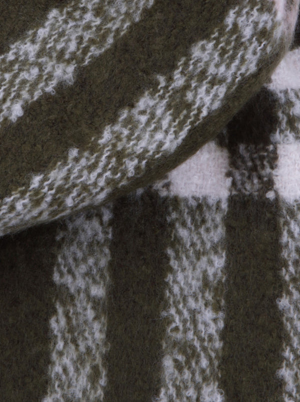 Check Detail Soft Scarf in Grey