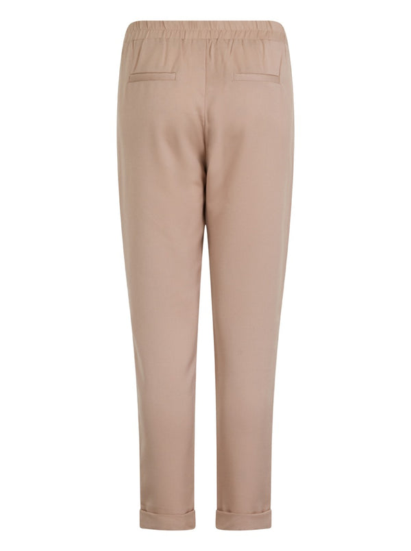 Tailored Crop Trousers in Pink
