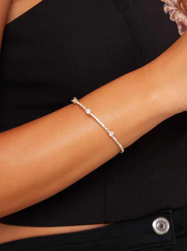 Diamante Bracelet in Gold Finish