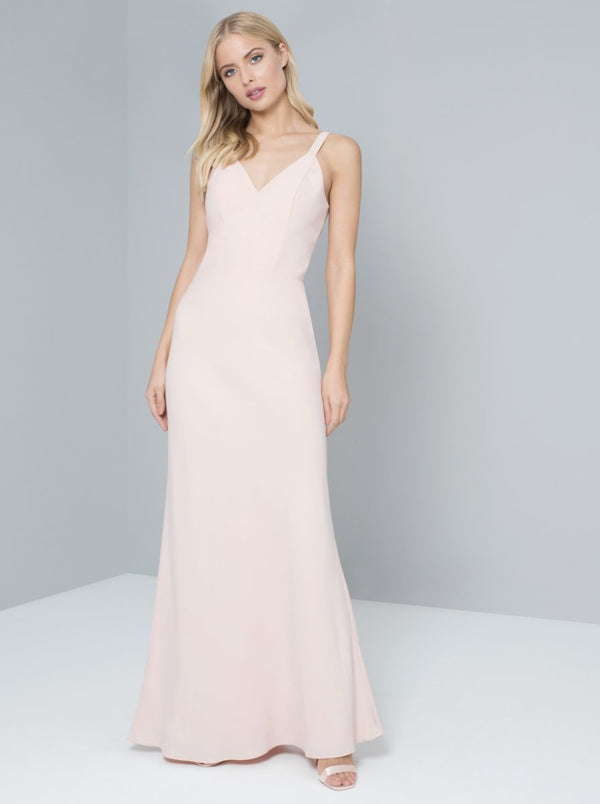 Cami Strap Lace Back Maxi Dress in Pink