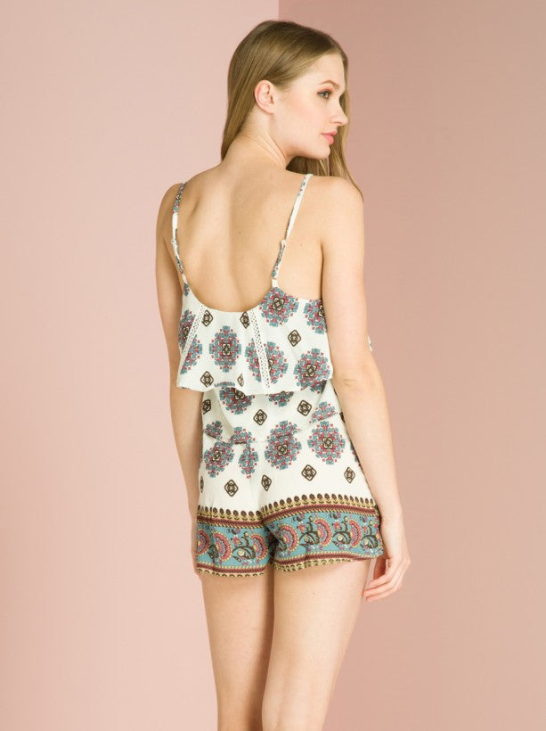 Paisley Print Cami Top in Cream