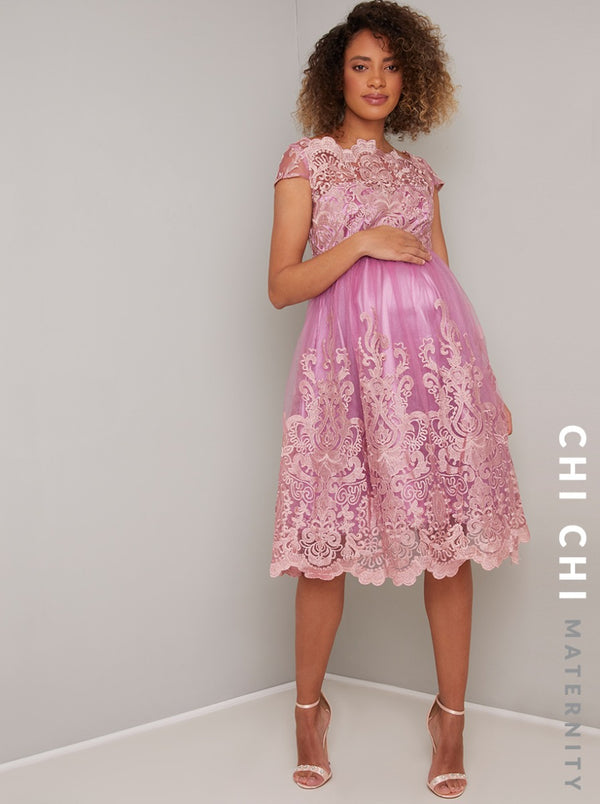Chi Chi Maternity Rose Dress