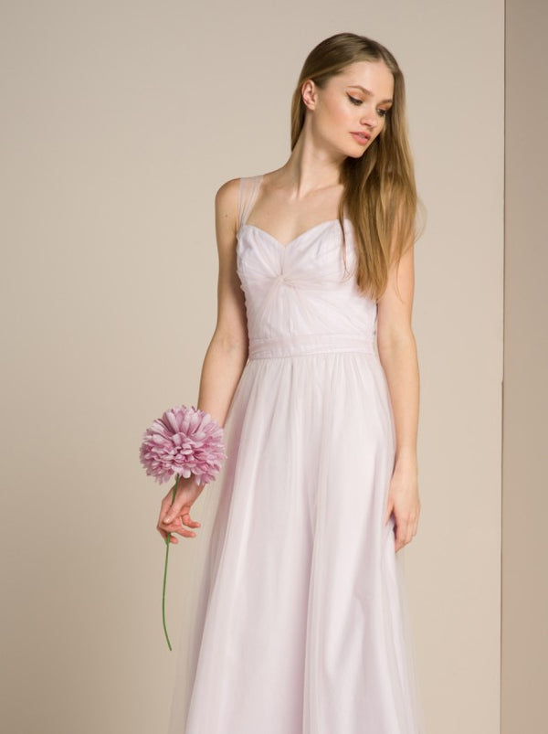 Cami Strap Lace Maxi Dress In Lilac