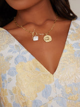 Pearl Detail Necklace in Gold Finish