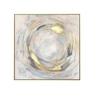 Gold Circle Abstract Painting