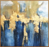 Gold and Blue Oil Painting