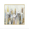White Flowers Abstract Painting