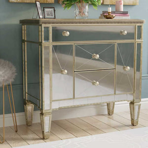 Antique Mirrored Chest