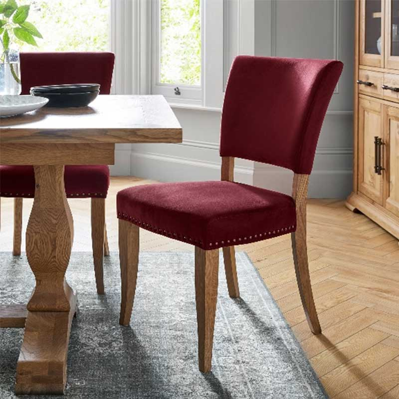 Kingswood Chair Crimson Velvet
