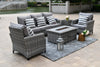 Milan Sofa Set (5 Seat) with Firepit
