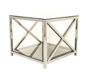 Silver Brisbane End Table