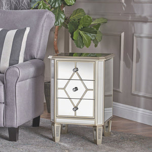 Orion Mirrored Bedside Locker