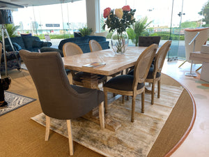 Elm Parquet Dining Table
